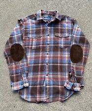 Ralph Lauren polo rugby elbow patch Long Sleeve flannel - Large