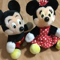 Collector Vintage Disney Minnie & Mickey Mouse Plush made in Sri Lanka 7""