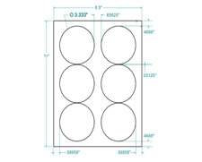 "3-1/3"" Diam. Round White Circular Labels • 600/Box 311657"