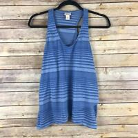 Mossimo Womens Top Soft Knit Tank Cross Front Racer Back Striped Size Small