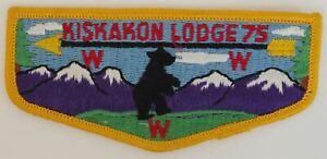 OA Kiskakon Lodge 75 Pre-fdl Flap YEL Bdr. Anthony Wayne Area, Indiana [TK-370]