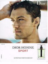 PUBLICITE ADVERTISING 075  2009  DIOR  le parfum HOMME SPORT JUDE LAW