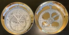 New listing Vintage Circa 1960's Piero Fornasetti Astrolabio Pair Porcelain Plates #3 & #7