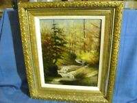 White Mountain School Antique Oil Painting c.1885
