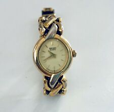 Vintage Seiko Womens Watch Gold Tone Link Bracket Watch Working Perfectly