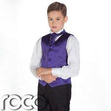 Boys Purple & Black Suit, Page Boy Suits, Boys Wedding Suits, Boys Suits