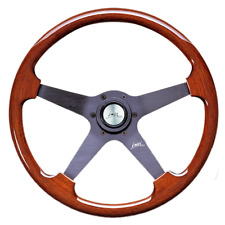 "CLASSIC SPORT WOOD STEERING WHEEL 340mm 13.4"" LUISI STRATOS 4 SPOKE BRAND NEW"
