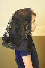 Black Childs veils and mantilla Catholic church chapel mass latin BFC