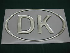 1 Dinamarca Cromo Oval cúpula Auto Adhesivo De 130 Mm X 72 Mm
