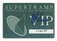 Supertramp - 1997 It´s About Time World Tour - Konzert-Satin-Pass VIP - Sammler