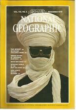 National Geographic November 1979 Desserts/Oahu/Deep Sea Oasis/Hong Kong Refuge
