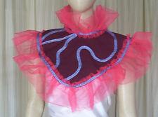 ap53 Red orange Queen  Princess Fantasy Fairytale Circus clown dress COLLAR