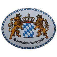 Bayrisches Schutzgebiet Bayern Email Schild Fahne Emaille 11,5 x 15cm NEU