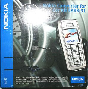 Nokia Pop-Port Adapter CA-55 für Car Kit CARK-91 original Nokia Zubehör
