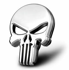 3D metal THE Punisher skull Skeleton Car Motorcycle body Emblem Badge Fashion