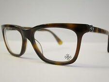 Chrome Hearts RESURECTUM Tortoise Glasses Eyewear Eyeglass Frame .925 Silver NEW