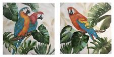 Pannello quadro PAPPAGALLO tela tropicale pappagalli 100cm estate arredo moderno