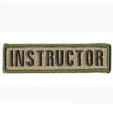 INSTRUCTOR TACTICAL MILITARY SWAT USA ARMY MORALE BADGE EMBROIDERED PATCH