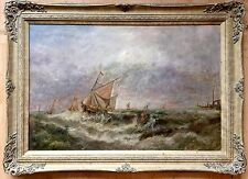 19th century British school oil painting on canvas unsigned gilt frame