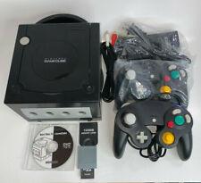 Nintendo GameCube DOL-001 Black MODDED Console Bundle 100+ Games & 2 Controllers