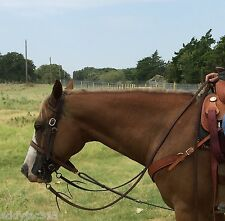 """Split Reins Soft Oiled Harness Leather 5/8"""" x 8' Amish Made New Free Shipping"""