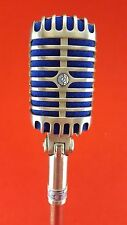Vintage Shure 55s 1960 Unidyne Dynamic Microphone Elvis Chrome Blue TESTED