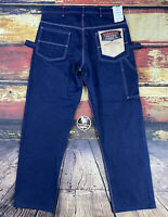Mens 34x30 Vtg NOS Indiana Industrial Carpenter Work Jeans Pant Talon Zipper USA