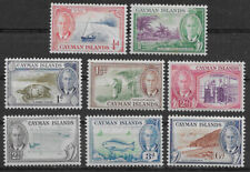 CAYMAN ISLANDS , 1950 , KING GEORGE VI , SET OF 8 STAMPS , PERF , VLH