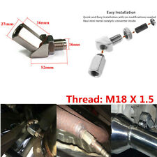 45° Car O2 Oxygen Sensor Extension Spacer Catalytic Converter M18 X1.5 Adapter