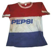 Vintage Thrashed Pepsi T Shirt 70s 80s Destroyed Distressed Soda Cola Promo M