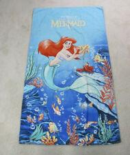 VINTAGE Disney Little Mermaid Towel Blue Red TV Movie Cartoon Bath Beach 90s*