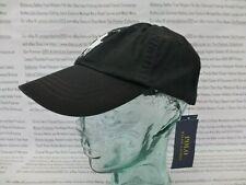 POLO RALPH LAUREN Baseball Cap Classic Sport Hat Black Cotton Caps BNWT R£49