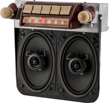 1947 - 53 GMC Truck AM FM Bluetooth® Radio with speakers for 6 Volt Positive gnd