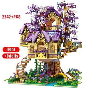 Creative Cherry Tree House Street View Brick Model Girl Assembly Building Block