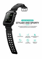 Soft Rugged Armour Case Strap Watch Sports Band For Apple Watch Series 2 3 42mm