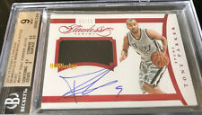 2014-15 FLAWLESS MOMENTOUS SWATCH AUTO: TONY PARKER #13/15 RUBY AUTOGRAPH BGS 9