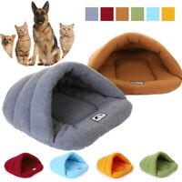 Pet Cat Dog Nest Bed Puppy Soft Warm Cave House Winter Sleeping Bag Mat Pad HOT