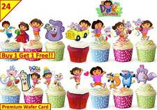 48 DORA THE EXPLORER  Edible Cup Cake Toppers Premium Wafer Birthday *STAND UP*