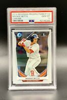 ❤️2014 Bowman Prospects Mookie Betts CHROME ROOKIE RC #BCP109 PSA 10 GEM MINT❤️