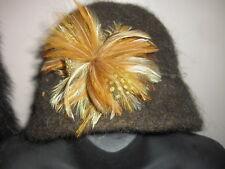 Handmade Wool Felt Hat w/Beads   Hat Hautees   6505