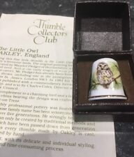 Little Owl  Thimble Coll Club Lovely With Box And Certificate