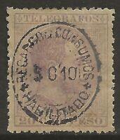 Philippines 1898 RECARDO DE CONSUMOS 10 on 20c Lilac VG HR