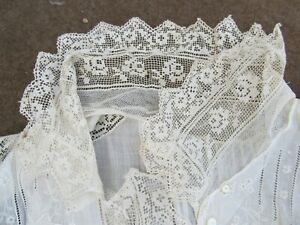 REALLY RARE Antique Lady's Fancy Lace Victorian Cape Blouse, Vest, c.1880, GIFT
