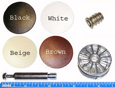 35mm Cam Disc Lock Furniture Connector Kit- 8mm x 48.5mm Dowel Pin and Accessory