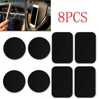 8Pcs/Set Black Metal Plate Sticker For Magnetic Car Cell Phone Mount Holder