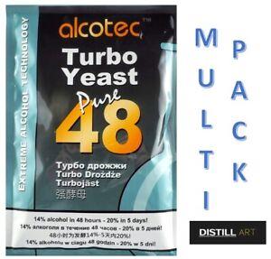 Alcotec 48 Hour TURBO YEAST High Alcohol Spirit Vodka Cider Making BULK FREE P&P