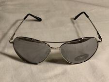 Silver Aviator Sunglasses For Men Or Women Mirrored Lenses 100% UV