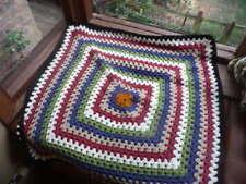 Crochet COPERTA 35 x 35 in (ca. 88.90 cm) NUOVO