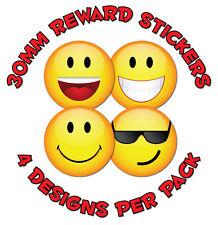 """144 X 30mm """"caras sonrientes"""" - para Niños recompensa Stickers-las escuelas, profesores, libros"""