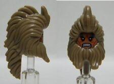 LEGO - Minifig, Head Beard & Long Hair, Flesh Face w/ Grimace Pattern (Beorn)